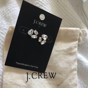 J.Crew Post Rhinestone Goldtone NWT Earrings & Bag